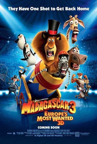 дата выхода фильма Мадагаскар 3 2012
