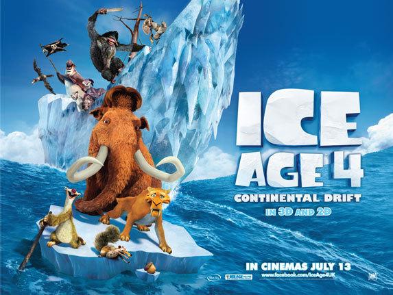 Ледниковый период 4: Континентальный дрейф / Ice Age: Continental Drift дата выхода